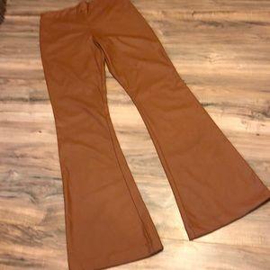 KAOA Faux Leather Flare Pant 4